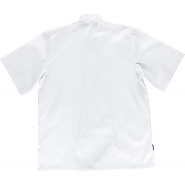 Casaca manga corta unisex B9001 Blanco workteam atrás barato