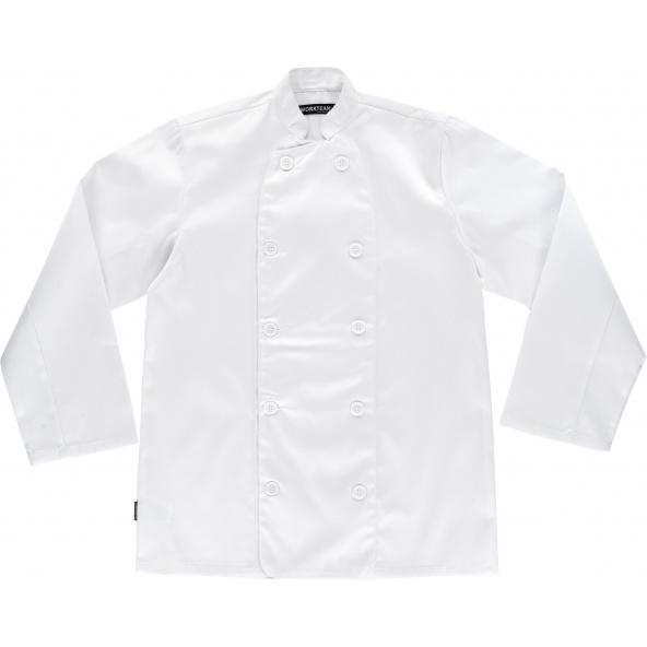 Comprar Casaca basica unisex B9002 Blanco workteam delante