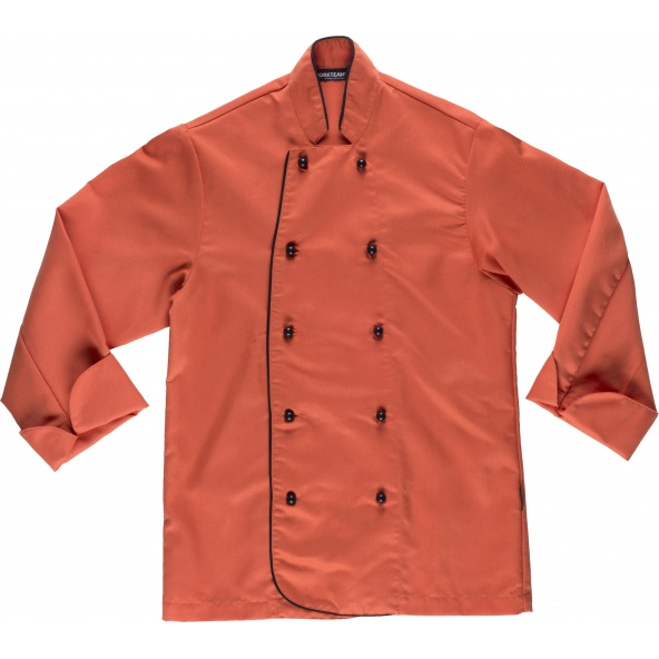 Comprar Casaca de cocina B9205 Coral workteam delante