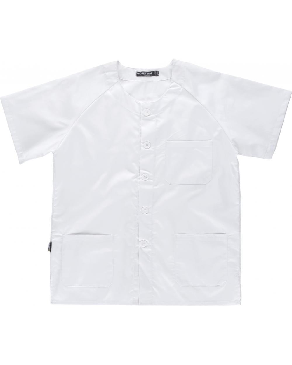 Comprar Casaca sanitaria unisex B9400 Blanco workteam delante