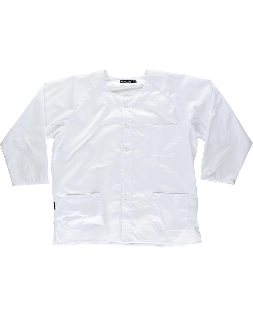 Comprar Casaca sanitaria unisex B9410 Blanco workteam delante