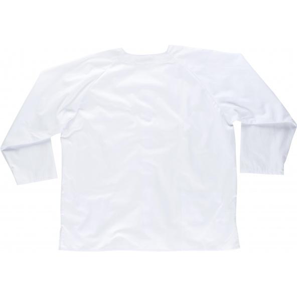 Casaca sanitaria unisex B9410 Blanco workteam atrás barato