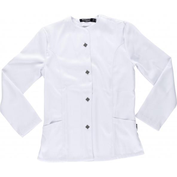 Comprar Casaca sanitaria de mujer B9550 Blanco workteam delante