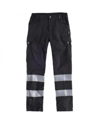 Comprar Pantalon con cintas discontinuas C2717 Negro workteam delante