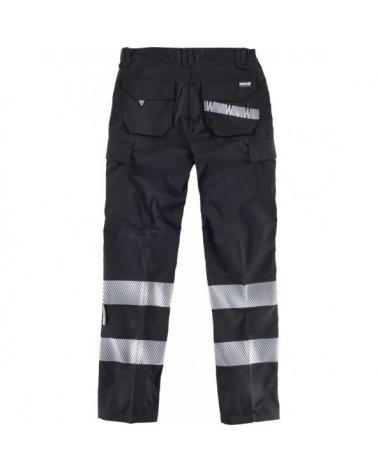 Pantalon con cintas discontinuas C2717 Negro workteam atrás barato