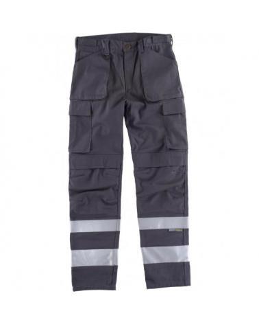 Comprar Pantalon con proteccion rodilleras C2911 Gris workteam delante