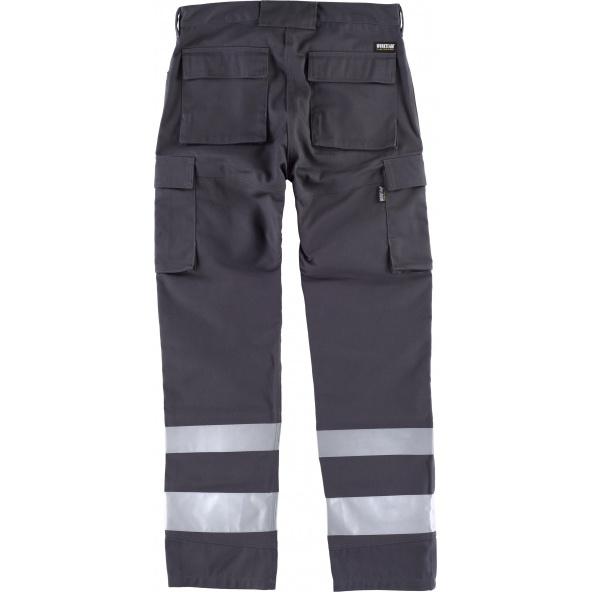 Pantalon con proteccion rodilleras C2911 Gris workteam atrás barato