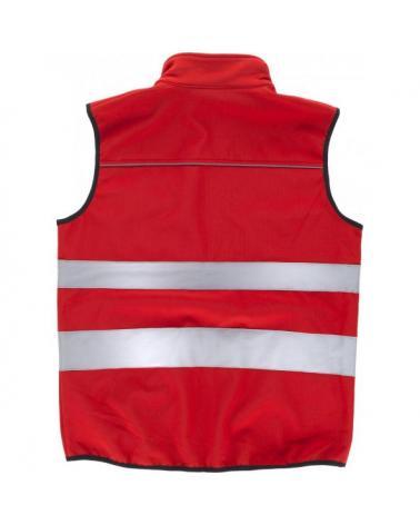 Chaleco workshell tejido ripstop C2922 Rojo workteam atrás barato