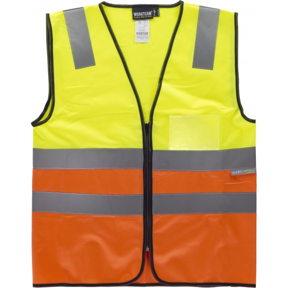 Comprar Chaleco con bolsillo transparente C3616 Amarillo AV+Naranja AV workteam delante