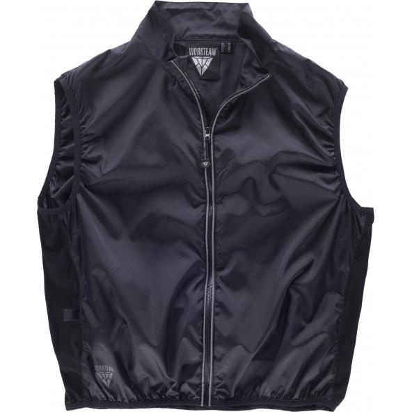 Comprar Chaleco de cuello alto C3619 Negro+Negro workteam delante