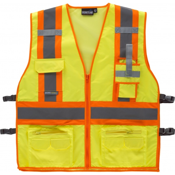 Comprar Chaleco con ajustes laterales C3622 Amarillo AV+Naranja AV workteam delante