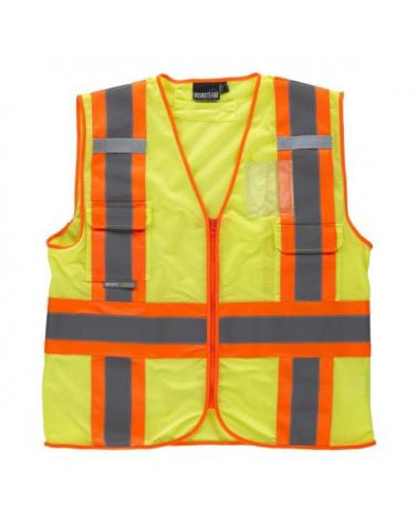 Comprar Chaleco con tejido rejilla C3623 Amarillo AV+Naranja AV workteam delante