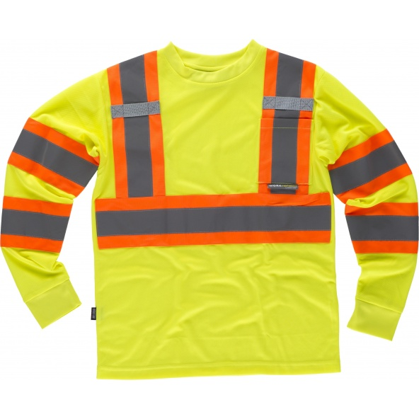 Comprar Camiseta reflectante manga larga C3633 Amarillo AV+Naranja AV workteam delante