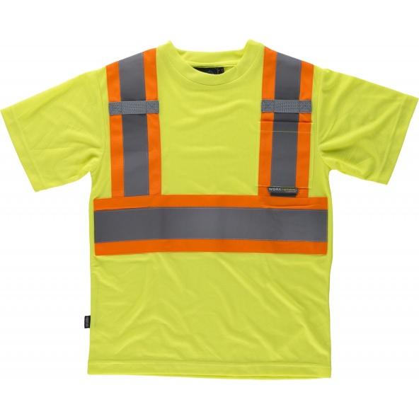 Comprar Camiseta reflectante manga corta C3645 Amarillo AV+Naranja AV workteam delante