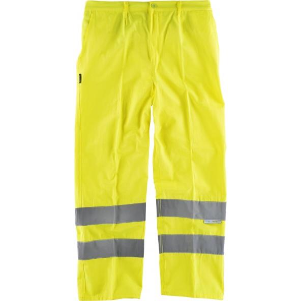 Comprar Pantalon de alta visibilidad C3915 Amarillo AV workteam delante