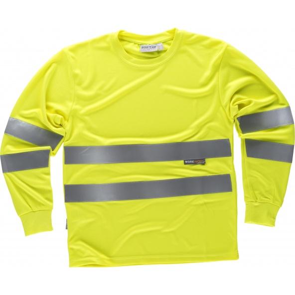 Comprar Camiseta transpirable C3933 Amarillo AV workteam delante