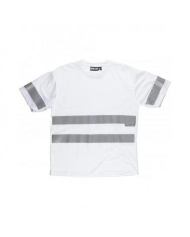 Comprar Camiseta con cintas reflectantes C3939 Blanco workteam delante