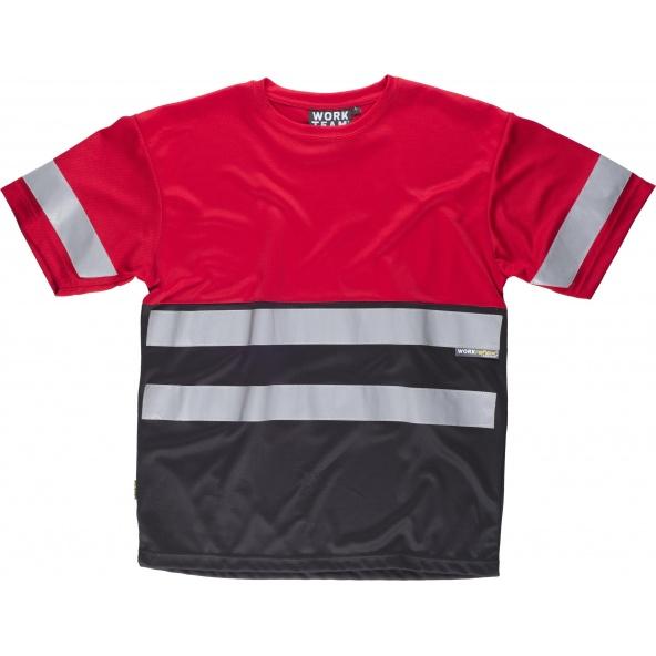 Comprar Camiseta transpirable C3940 Rojo+Negro workteam delante