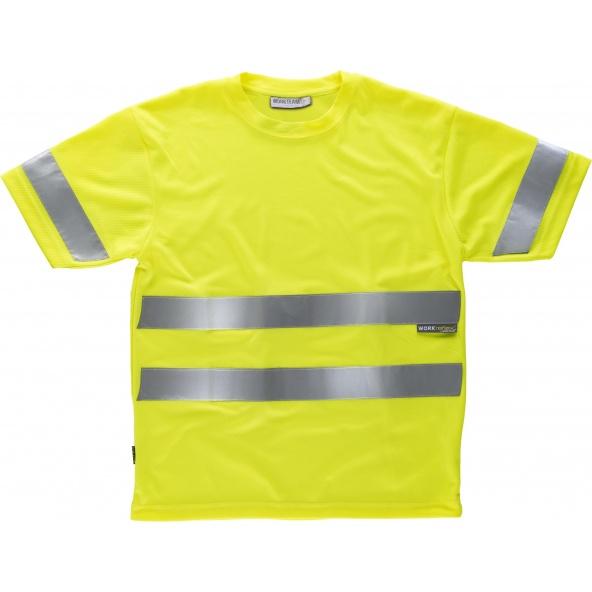 Comprar Camiseta transpirable C3945 Amarillo AV workteam delante