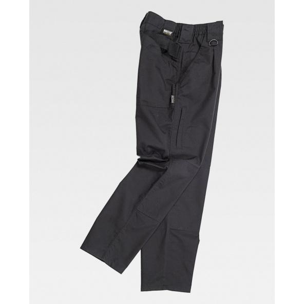 Comprar Pantalon con tejido Ripstop antiespinos C4015 Negro workteam barato