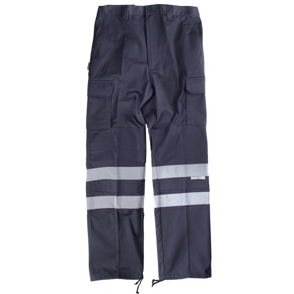 Comprar Pantalon con refuerzos (tallas grandes) C4016 Marino workteam delante