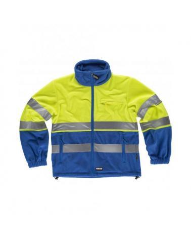 Comprar Forro Polar ambientes frios C4025 Azulina+Amarillo AV workteam delante