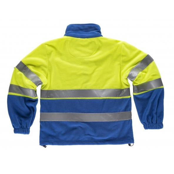 Forro Polar ambientes frios C4025 Azulina+Amarillo AV workteam atrás barato