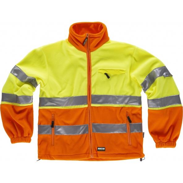 Comprar Forro Polar ambientes frios C4026 Naranja AV+Amarillo AV workteam delante