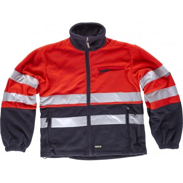 Comprar Forro Polar ambientes frios C4027 Marino+Rojo AV workteam delante