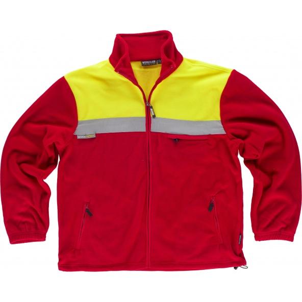 Comprar Forro Polar C4030 Rojo+Amarillo AV workteam delante