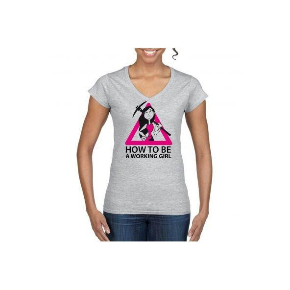 Camiseta Working Girl modelo  VIR