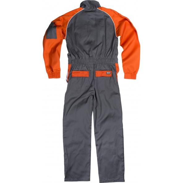 Buzo de trabajo combinado C4503 Gris+Naranja workteam atrás barato