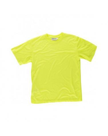 Comprar Camiseta de poliester tacto algodón C6010 Amarillo AV workteam delante