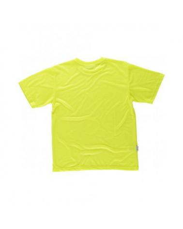 Camiseta de poliester tacto algodón C6010 Amarillo AV workteam atrás barato