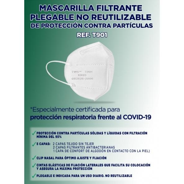 Comprar mascarilla KN95 equivalente a FFP2 sin valvula barata online
