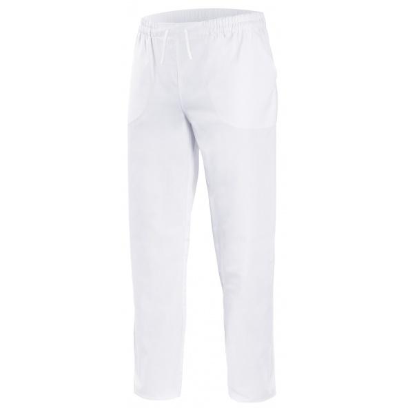 compra pantalon de pijama sanitario blanco de algodon Velilla serie 533005