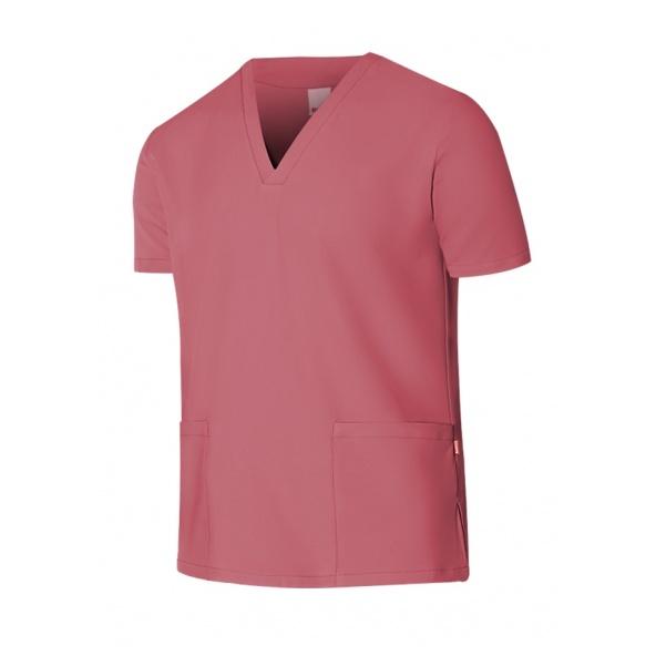 comprar casaca de limpieza repelente a liquidos Velilla serie 535207 color rosa fresa