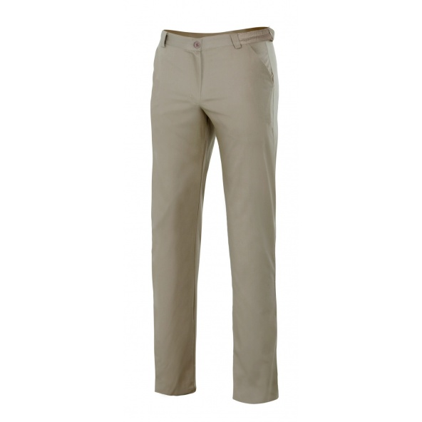 Comprar Pantalón chino stretch mujer serie 403005s online barato Beige Arena