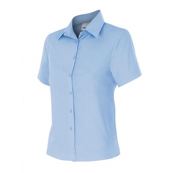 Comprar Camisa mujer manga corta serie 538 online barato Celeste