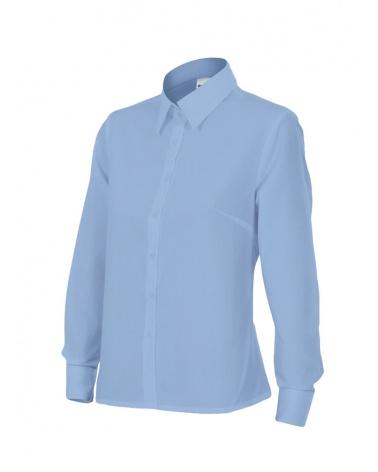 Comprar Camisa mujer manga larga serie 539 online barato Celeste