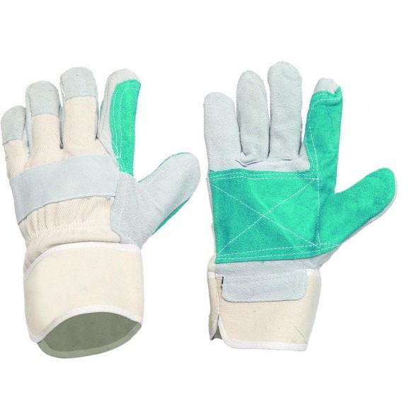 Comprar Guantes de serraje G2201 - Pack de 12 pares Gris+Verde workteam barato