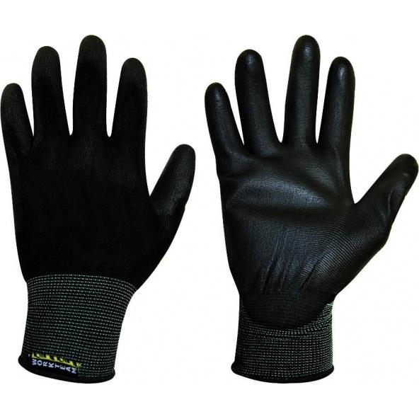Comprar Guantes de poliuretano G4801 - Pack de 12 pares Negro workteam barato