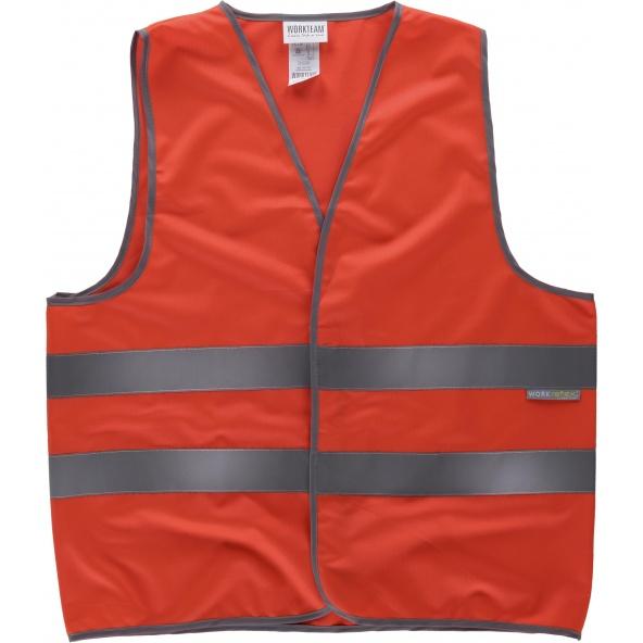 Comprar Chaleco de alta visibilidad HVTT02 Rojo AV workteam delante