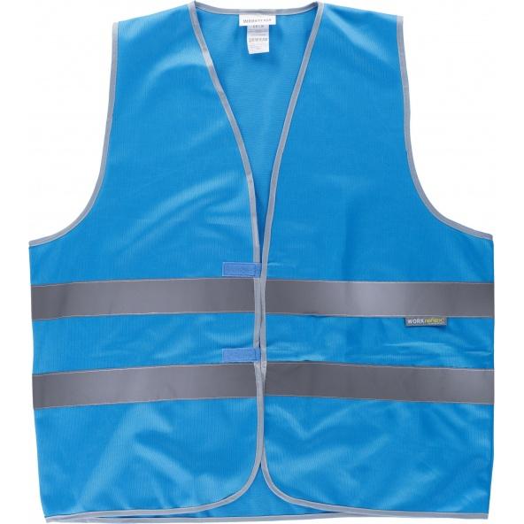 Comprar Chaleco de alta visibilidad varios colores HVTT03 Azul workteam delante