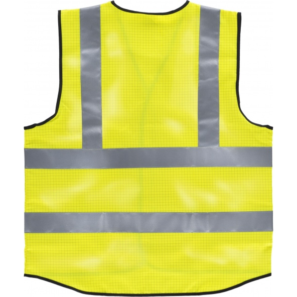 Chaleco antiestatico proteccion llama HVTT20 Amarillo AV workteam atrás barato