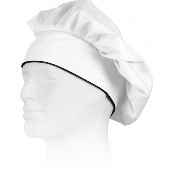Comprar Gorro frances de cocinero M603 Blanco+Negro workteam barato