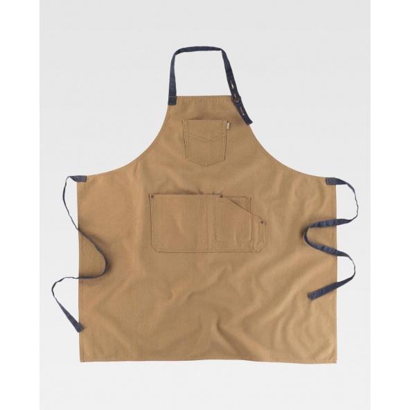 Comprar Delantal tejido canvas algodon M712 Beige workteam barato