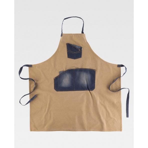 Comprar Delantal tejido canvas y vaquero M720 Beige+Vaquero workteam barato