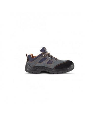 Zapatos de trabajo de serraje S1+P P1201 Gris workteam 4