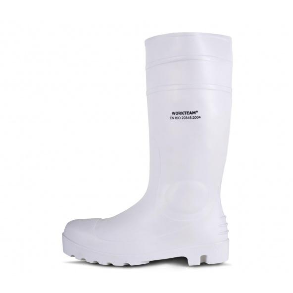 Comprar Botas de trabajo de goma blanca nitrilo y PVC S5 P2401 Blanco workteam 1